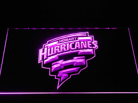 Image of Hobart Hurricanes LED Neon Sign - Purple - SafeSpecial