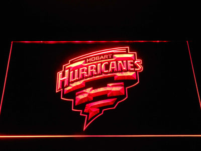 Hobart Hurricanes LED Neon Sign - Red - SafeSpecial