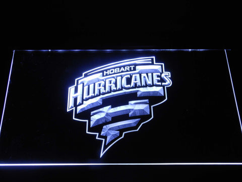 Image of Hobart Hurricanes LED Neon Sign - White - SafeSpecial