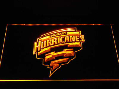 Hobart Hurricanes LED Neon Sign - Yellow - SafeSpecial