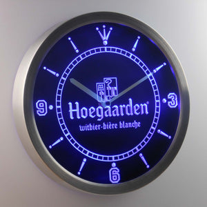 Hoegaarden LED Neon Wall Clock - Blue - SafeSpecial