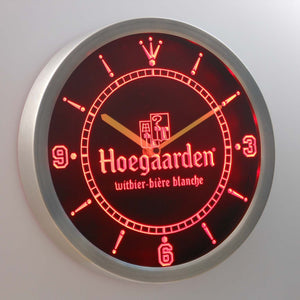 Hoegaarden LED Neon Wall Clock - Red - SafeSpecial
