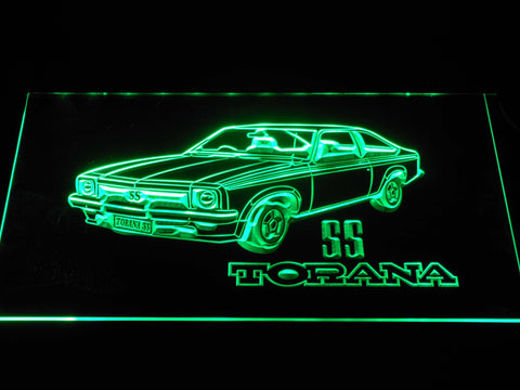 Image of Holden Torana SS LED Neon Sign - Green - SafeSpecial