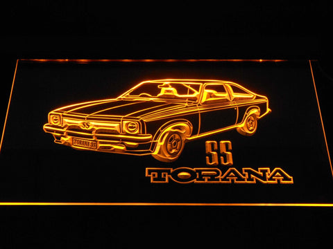Image of Holden Torana SS LED Neon Sign - Yellow - SafeSpecial