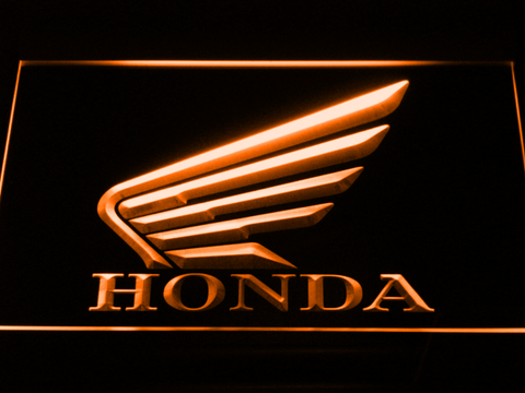 Image of Honda LED Neon Sign - Orange - SafeSpecial