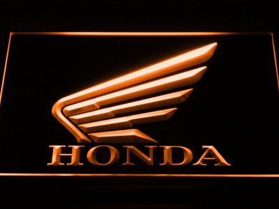 Honda LED Neon Sign - Orange - SafeSpecial