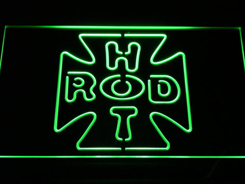 Hot Rod Garage 2 LED Neon Sign - Green - SafeSpecial