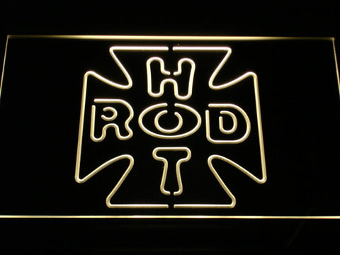 Hot Rod Garage 2 LED Neon Sign - Yellow - SafeSpecial
