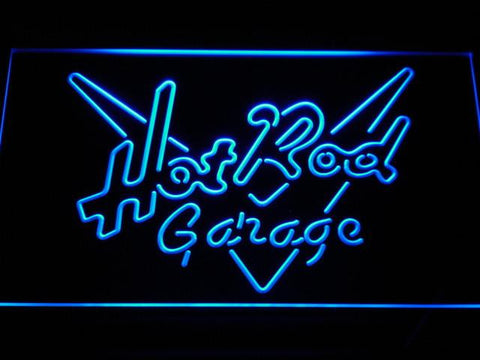 Image of Hot Rod Garage LED Neon Sign - Blue - SafeSpecial
