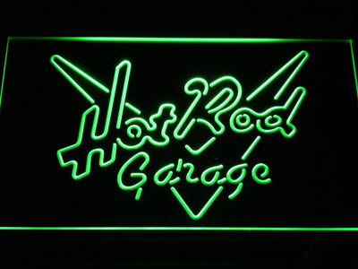 Hot Rod Garage LED Neon Sign - Green - SafeSpecial