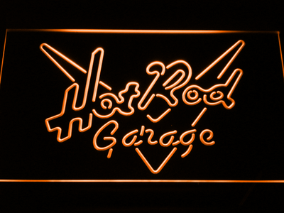 Hot Rod Garage LED Neon Sign - Orange - SafeSpecial