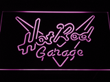 Hot Rod Garage LED Neon Sign - Purple - SafeSpecial