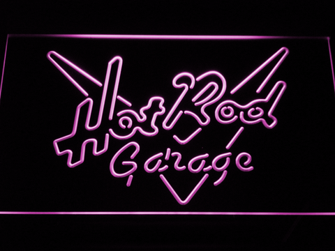 Image of Hot Rod Garage LED Neon Sign - Purple - SafeSpecial