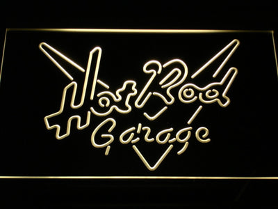 Hot Rod Garage LED Neon Sign - Yellow - SafeSpecial