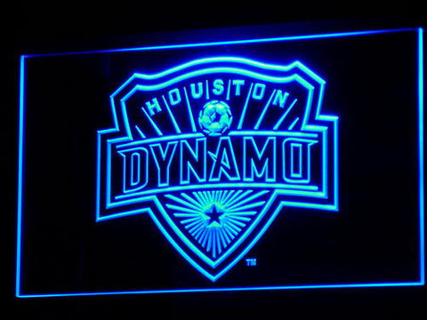 Houston Dynamo LED Neon Sign - Blue - SafeSpecial