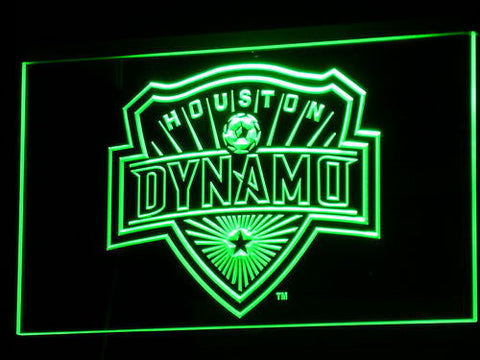 Houston Dynamo LED Neon Sign - Green - SafeSpecial