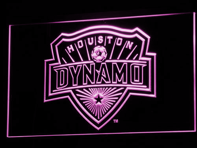 Houston Dynamo LED Neon Sign - Purple - SafeSpecial