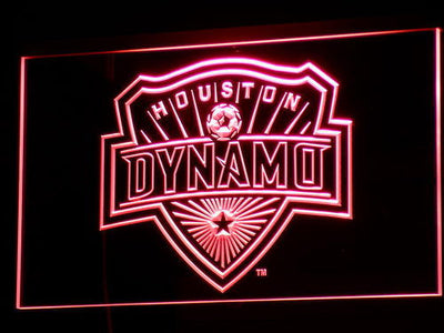 Houston Dynamo LED Neon Sign - Red - SafeSpecial