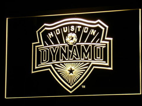 Houston Dynamo LED Neon Sign - Yellow - SafeSpecial