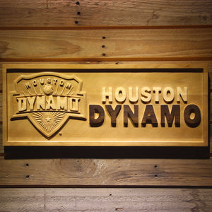 Houston Dynamo Wooden Sign - Small - SafeSpecial