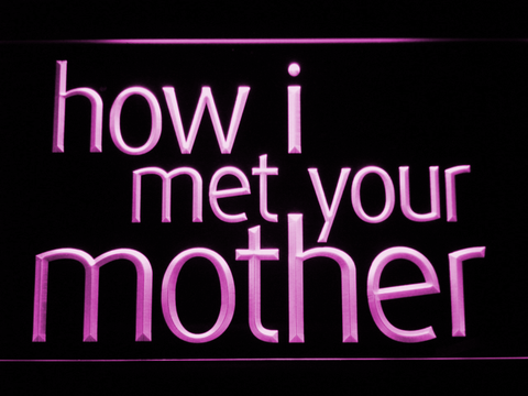 Image of How I Met Your Mother LED Neon Sign - Purple - SafeSpecial