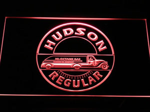 Hudson Hi-Octane Gasoline LED Neon Sign - Red - SafeSpecial
