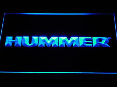 Image of Hummer LED Neon Sign - Blue - SafeSpecial