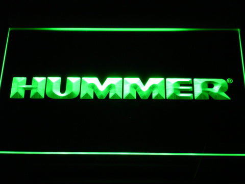 Image of Hummer LED Neon Sign - Green - SafeSpecial