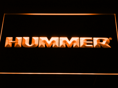 Hummer LED Neon Sign - Orange - SafeSpecial