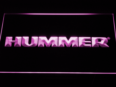 Image of Hummer LED Neon Sign - Purple - SafeSpecial