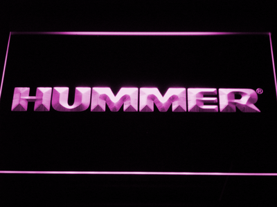 Hummer LED Neon Sign - Purple - SafeSpecial