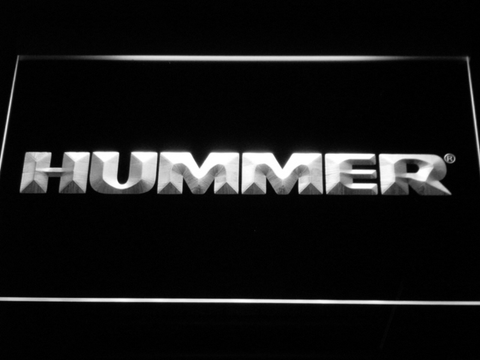 Image of Hummer LED Neon Sign - White - SafeSpecial