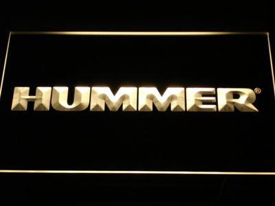 Hummer LED Neon Sign - Yellow - SafeSpecial
