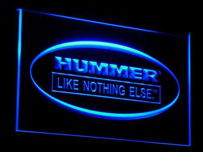 Hummer Like Nothing Else LED Neon Sign - Blue - SafeSpecial