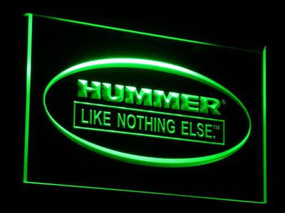 Hummer Like Nothing Else LED Neon Sign - Green - SafeSpecial