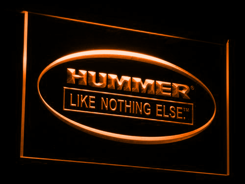 Image of Hummer Like Nothing Else LED Neon Sign - Orange - SafeSpecial