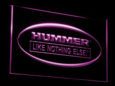 Hummer Like Nothing Else LED Neon Sign - Purple - SafeSpecial