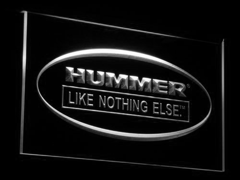 Image of Hummer Like Nothing Else LED Neon Sign - White - SafeSpecial