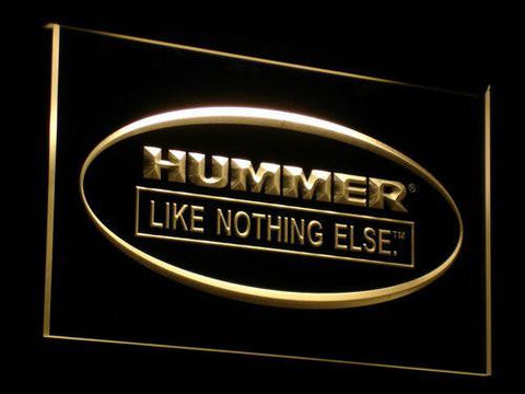 Image of Hummer Like Nothing Else LED Neon Sign - Yellow - SafeSpecial