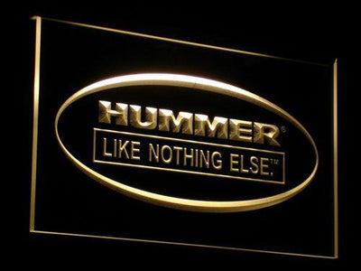 Hummer Like Nothing Else LED Neon Sign - Yellow - SafeSpecial