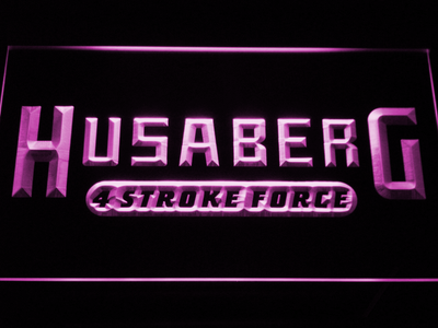 Husaberg LED Neon Sign - Purple - SafeSpecial