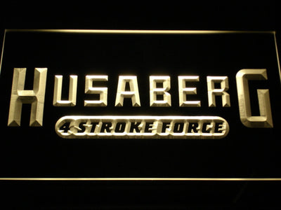 Husaberg LED Neon Sign - Yellow - SafeSpecial