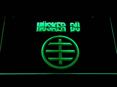 Husker Du Logo LED Neon Sign - Green - SafeSpecial