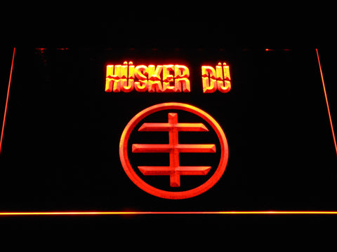 Husker Du Logo LED Neon Sign - Orange - SafeSpecial