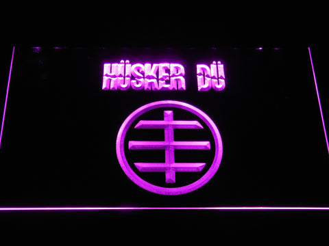 Husker Du Logo LED Neon Sign - Purple - SafeSpecial