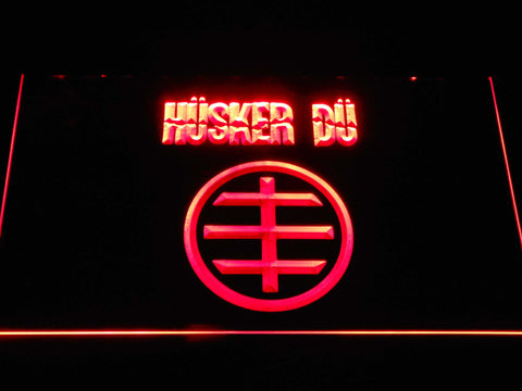 Husker Du Logo LED Neon Sign - Red - SafeSpecial