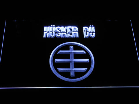 Husker Du Logo LED Neon Sign - White - SafeSpecial