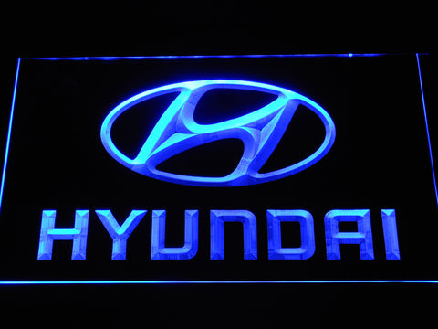 Hyundai LED Neon Sign - Blue - SafeSpecial