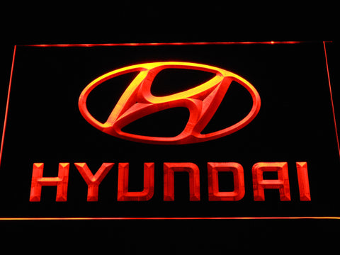 Hyundai LED Neon Sign - Orange - SafeSpecial