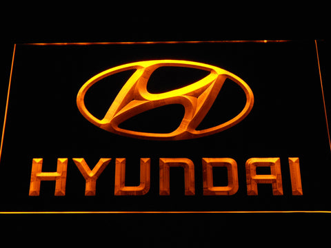 Hyundai LED Neon Sign - Yellow - SafeSpecial